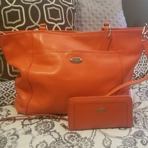 Coach City Tote  with matching wallet